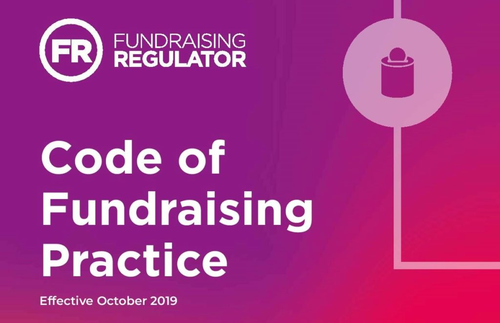 New Code of Fundraising Practice – October 2019